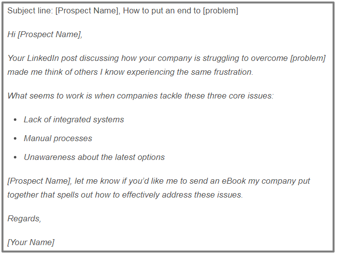 linkedin inmail templates