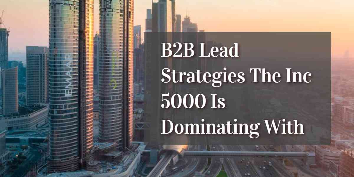 Effective B2B Lead Strategies that Guarantee Growth