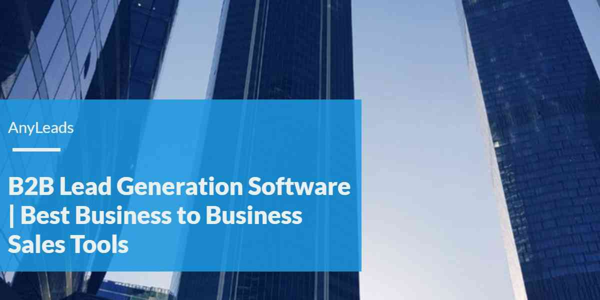 B2B Lead Generation Software