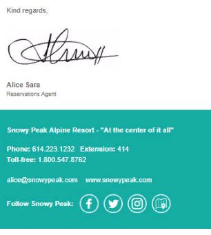 email signature template free