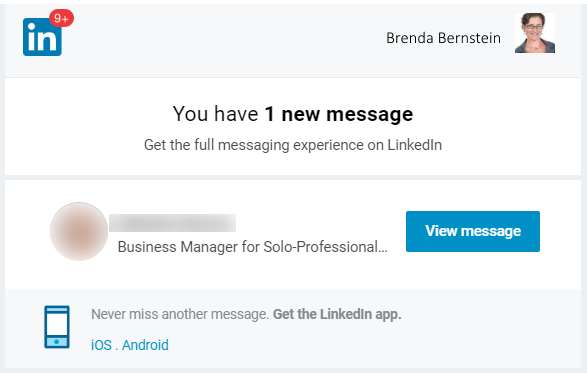 linkedin message template