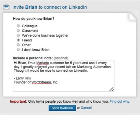 linkedin message templates