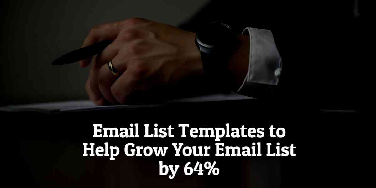 How to Collect Email Addresses with an Email List Template